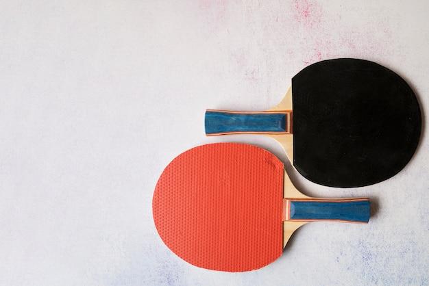 Belle composition sportive avec des éléments de ping-pong Photo gratuit
