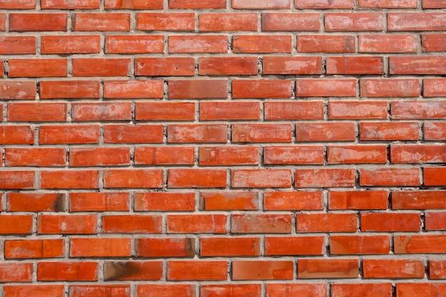 Belle Couleur Orange Tanné Texture De Fond De Mur De Briques