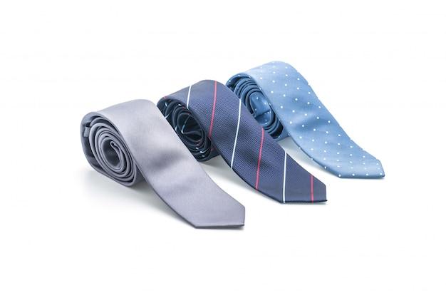 Belle cravate sur blanc Photo Premium