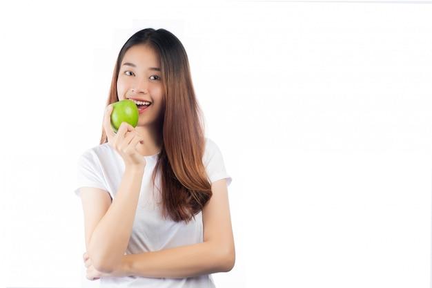 Belle femme asie avec un sourire heureux Photo gratuit