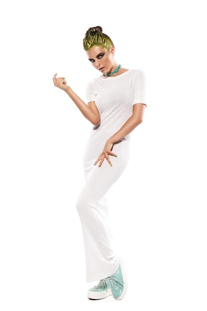 Belle femme en robe longue Photo Premium