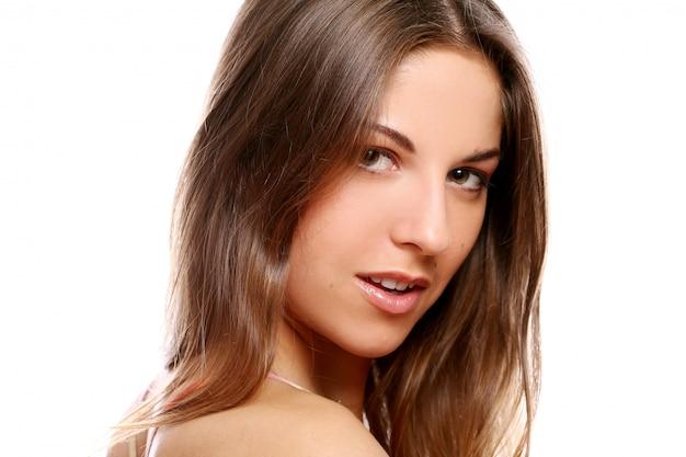Belle Femme Souriante Photo gratuit