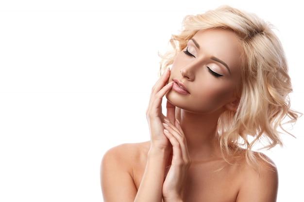 Belle Fille Blonde Photo Premium