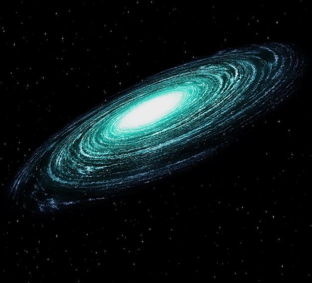 Une Belle Galaxie Colorée Dans L'espace étoilé Sombre Photo gratuit
