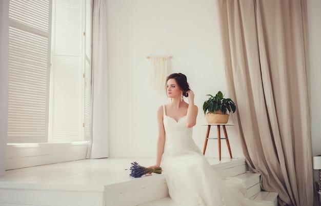 Belle mariée de luxe Photo Premium