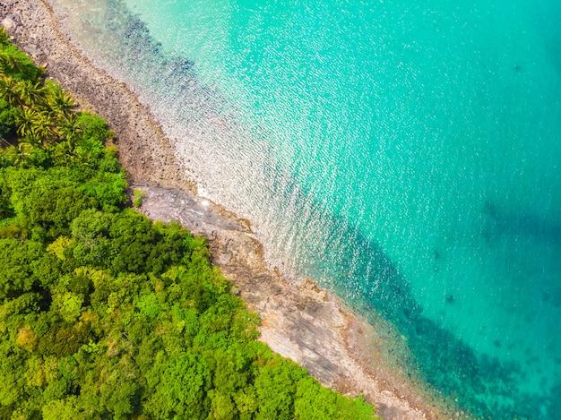 Belle nature plage tropicale et la mer Photo gratuit