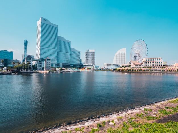 Belle ville d'horizon de yokohama au japon Photo gratuit
