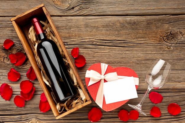 Belle Vue De Dessus Pour Le Dîner De La Saint-valentin Photo gratuit