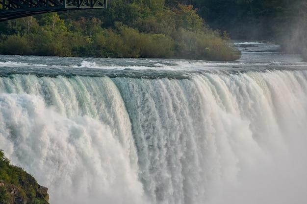 Belle Vue Sur Les Magnifiques Chutes Niagra Capturées Au Canada Photo gratuit