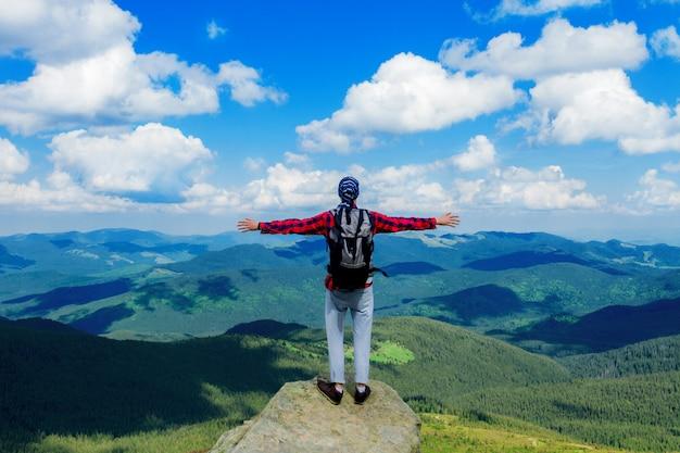 Belle vue sur les montagnes des carpates Photo Premium