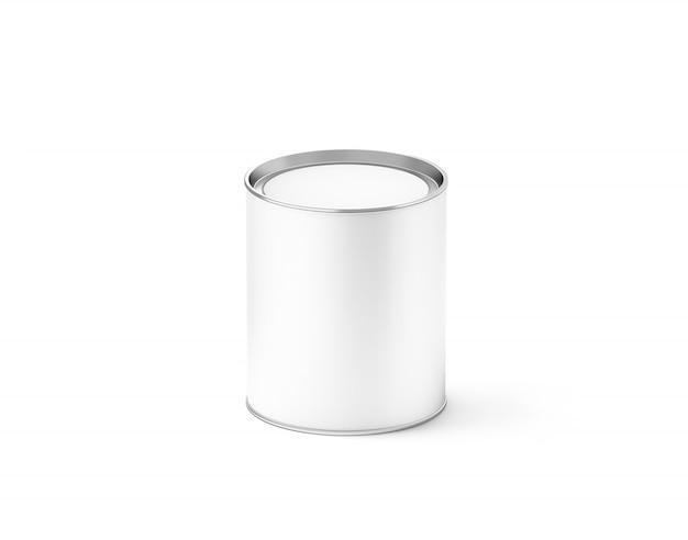 Bidon blanc vide, isolé, Photo Premium