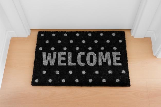 Bienvenue à La Maison Noir Mat. Maison Photo Premium