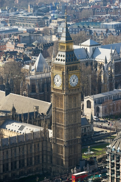 Big ben et l'abbaye de westminster, londres, angleterre Photo Premium