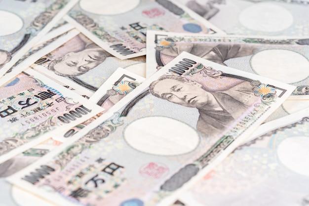 Billet de banque japonais, le yen est la monnaie officielle du japon Photo Premium