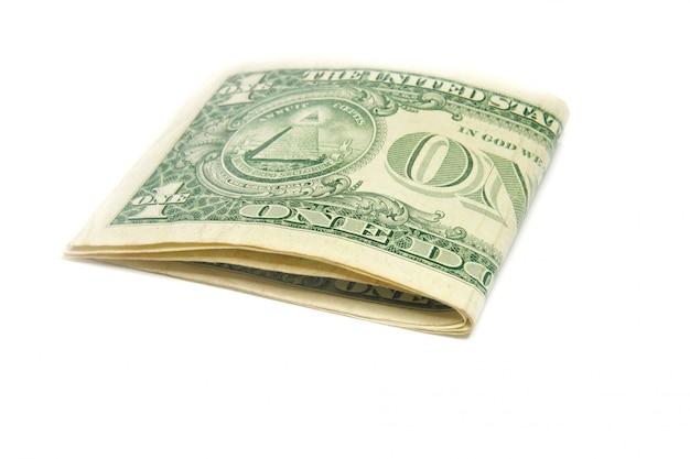 Billets de banque américains isolés Photo Premium