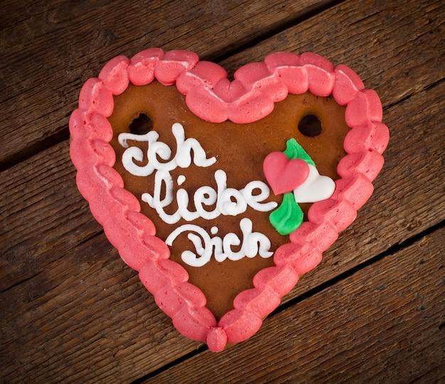 Biscuit coeur lebkuchenherzen ginger Photo Premium