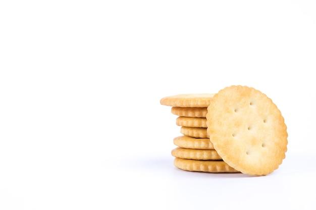 Biscuit rond croustillant Photo Premium