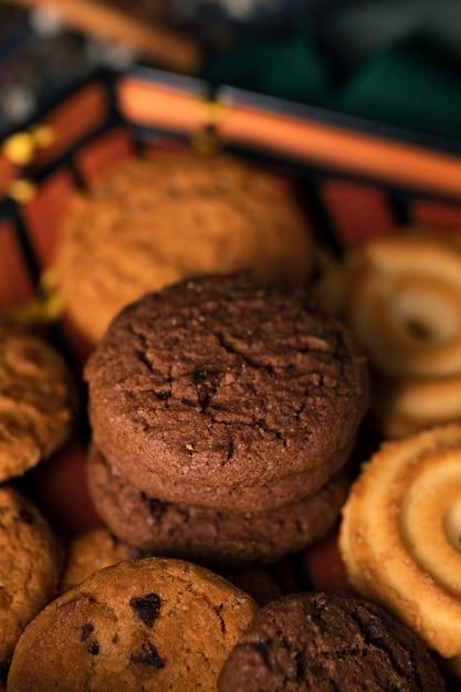 Biscuits au thé asiatique traditionnel close-up Photo gratuit