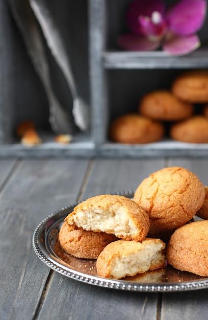 Biscuits aux amandes néerlandais appelés Photo Premium