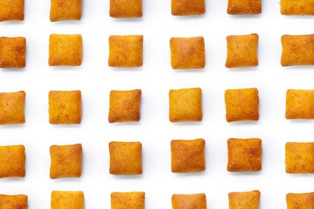 Biscuits biscuits isolés sur fond blanc Photo Premium