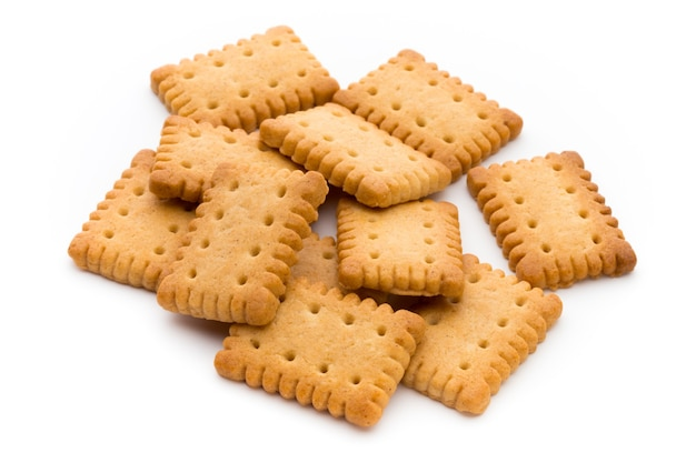 Biscuits Biscuits Savoureux Isolés. Photo Premium