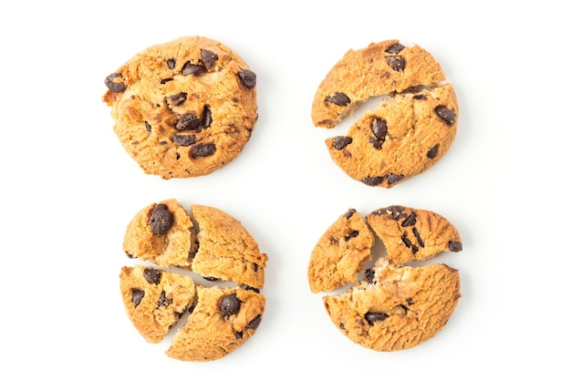 Biscuits Maison Sur Fond Blanc Photo Premium