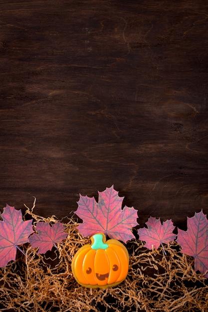 Biscuits de pain d'épice drôles pour halloween Photo Premium