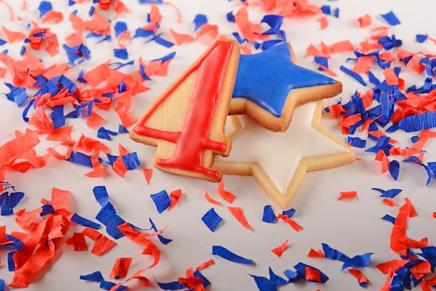 Biscuits patriotiques pour le 4 juillet Photo Premium