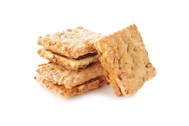 Biscuits Sablés De Différentes Formes Avec Farce Et Sans Isolé Photo Premium