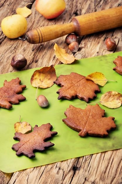 Biscuits symboliques d'automne Photo Premium