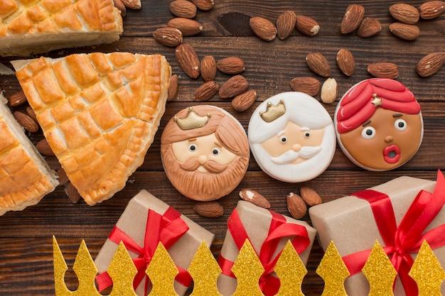 Biscuits Et Tarte Au Dessert Epiphany Photo gratuit