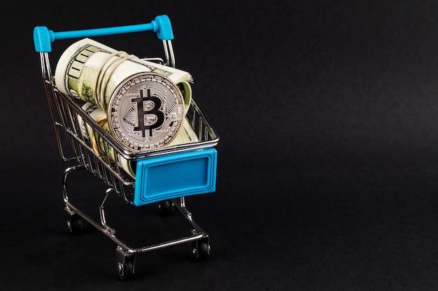 Bitcoin btc crypto-monnaie moyen de paiement dans le secteur financier Photo Premium