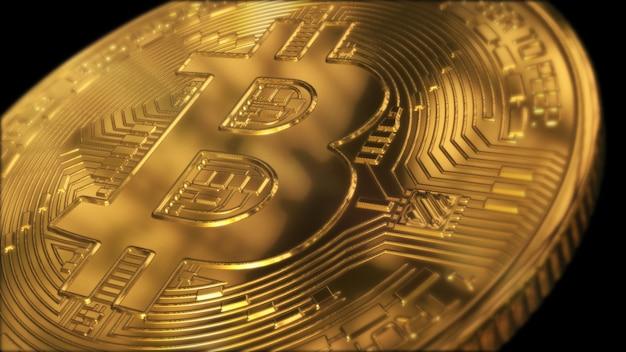 Bitcoin coin wallpaper Photo Premium
