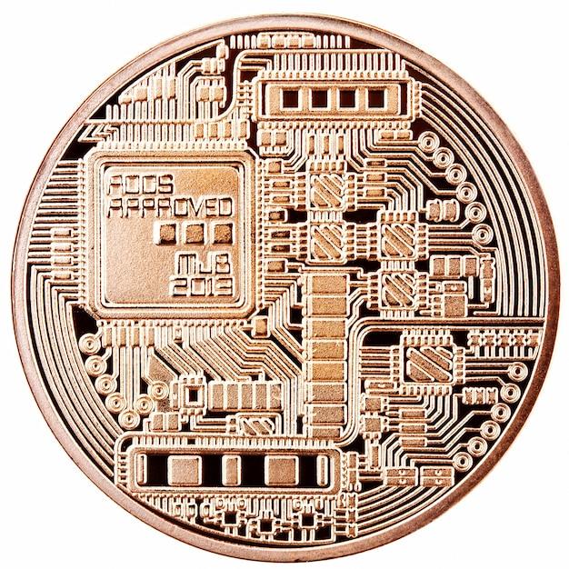 Bitcoin doré isolé Photo Premium