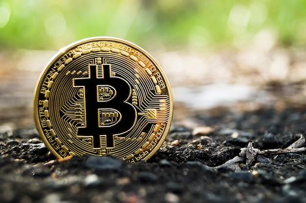 Le bitcoin est un moyen d'échange moderne et cette crypto-monnaie Photo Premium