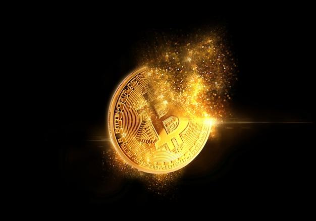 Bitcoin D'or Photo Premium