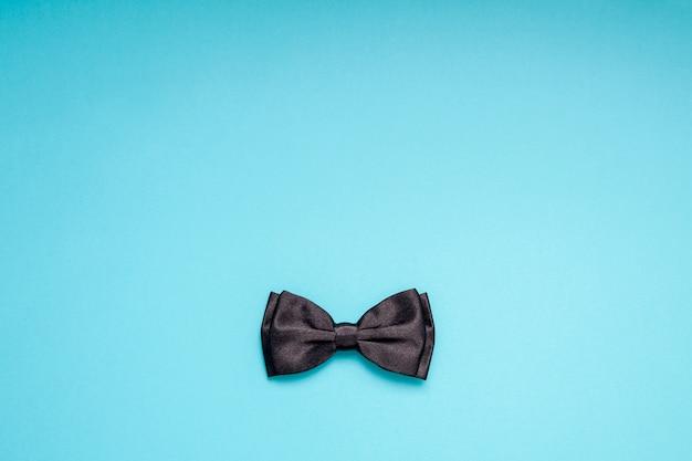 Black Gentleman Bow Tie Concept De Père De Pères Hommes Photo Premium