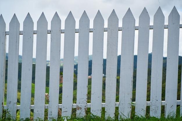 Blanc Clôture En Bois Photo gratuit