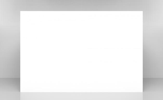 Blanc maquette mur de conception modèle vierge sur fond gris. Photo Premium