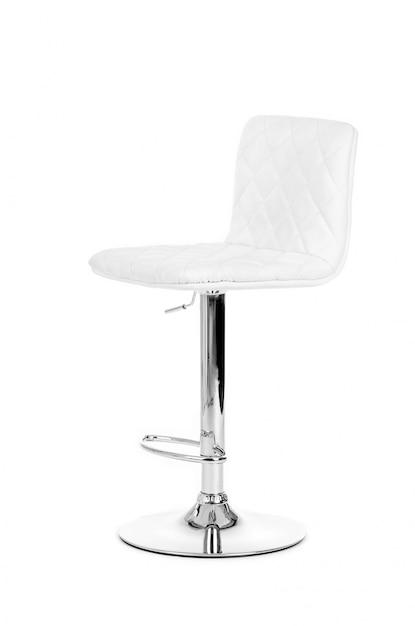 Blanc moderne barre de chaise isolé sur fond blanc Photo Premium