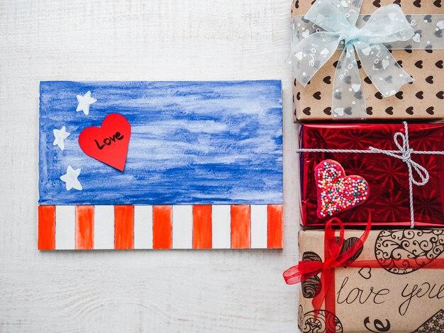 Blank notepad page pour des mots doux sur l'amour Photo Premium