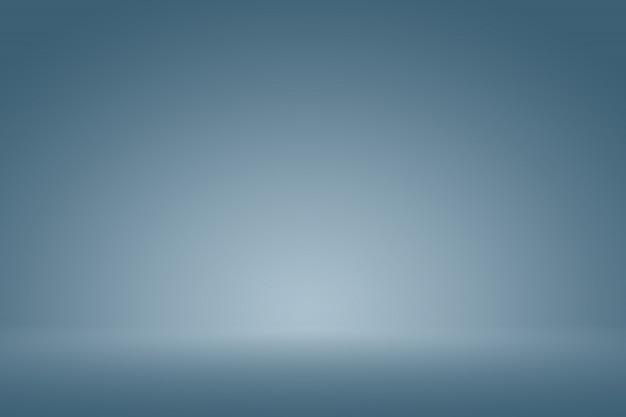 Bleu Foncé Lisse Avec Black Vignette Studio Bien Utilisé Comme Arrière-plan, Rapport D'activité, Numérique, Modèle De Site Web. Photo Premium