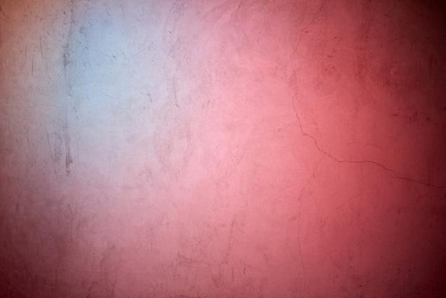Bleu Néon Et Lumière Rouge Se Reflétant Sur Le Mur De Béton Photo Premium