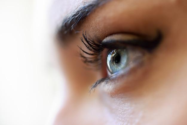 Bleu près de l'oeil Photo gratuit