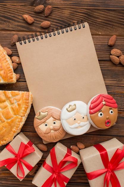 Bloc-notes Biscuits Dessert Epiphanie Photo gratuit