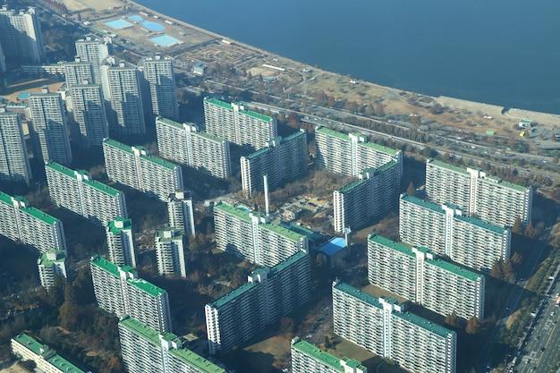 Blureed Vue De Dessus Paysage Corée Du Sud Photo Premium