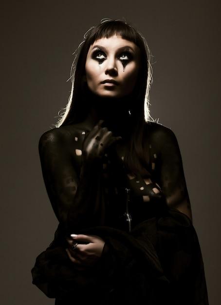 Body-art Paint, Jeune Femme Photo Premium
