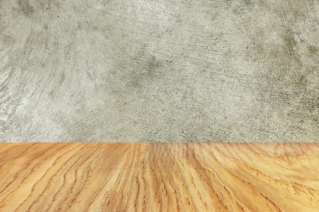 Le Bois Et Le Ciment Texture Image Matériel Pour Le Fond. Photo Premium