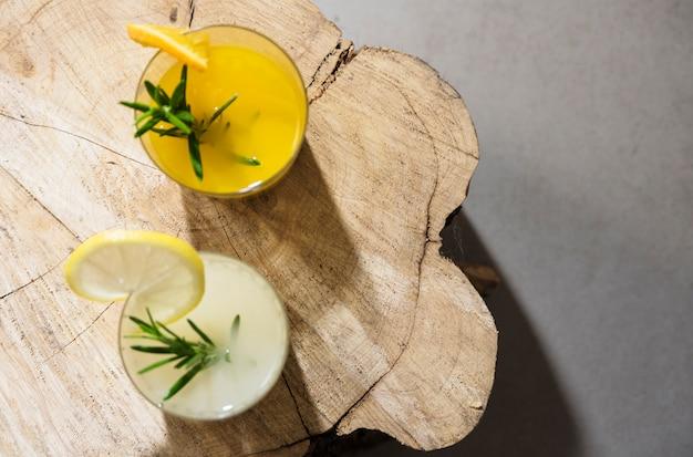 Boisson rafraîchissante à l'orange et au citron Photo gratuit