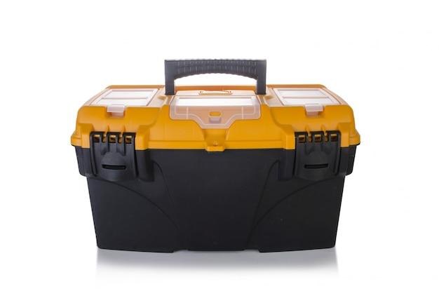 Boîte à outils isolée sur blanc Photo Premium